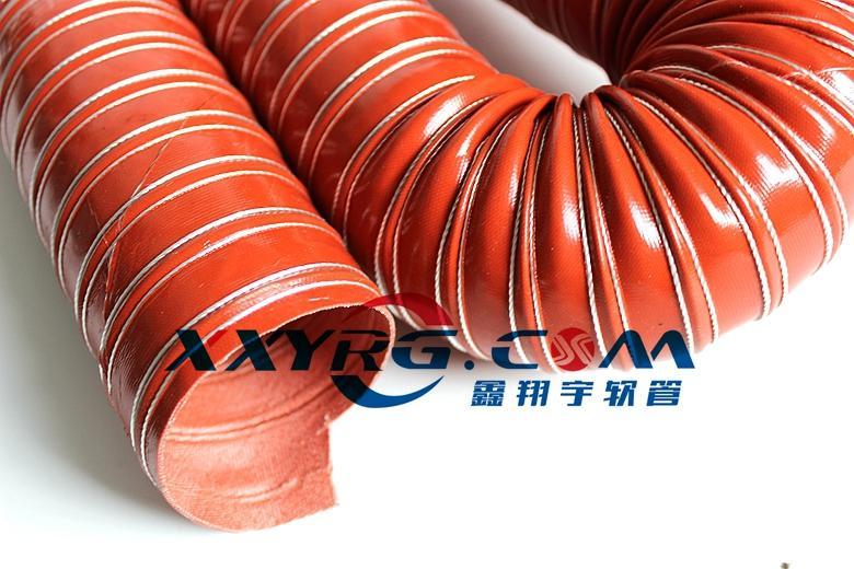 红色耐高温硫化硅胶高温风管